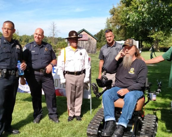 Vietnam Veteran Larry McKee Receives Trac Fab Chair