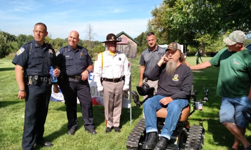 Vietnam Veteran Larry McKee Receives Trac Fab Chair