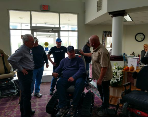 Michigan Vet receives Trac Fab Chair