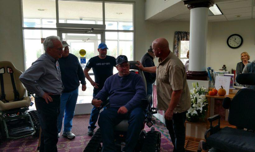Michigan Vet receives Trac Fab Chair